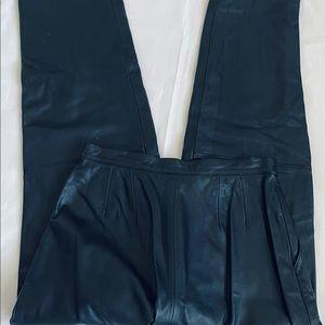 100% Genuine Leather Alfani Black Pants Size 8